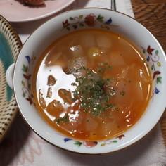 三色豆のイタリアンスープ