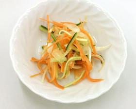 新タマネギと野菜のナムル