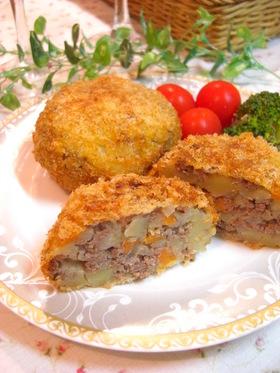✿挽き肉と野菜のバター風味コロッケ✿