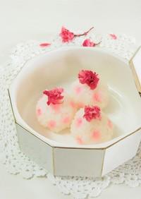 水玉桜手まり寿司*お花見・お弁当・母の日
