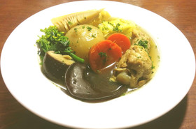春野菜と手羽元のポトフ シャトルシェフ