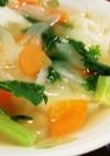 簡単♪色々野菜と冷凍餃子コンソメスープ