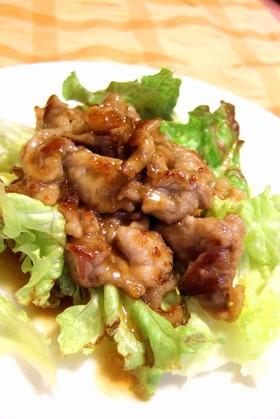 さっぱり★薄切り豚肉の甘酢焼き