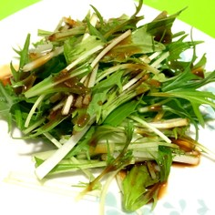 焼肉のタレかけ水菜サラダ!