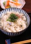 塩焼き鮎の簡単☆炊き込みごはん♪