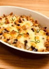 夏野菜と挽肉のオーブン焼き