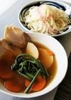 チャーシューの茹で汁で春のつけ素麺