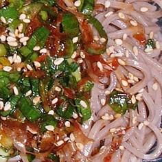 冷やし蕎麦(乾麺)・ごま油とかつお醤油味