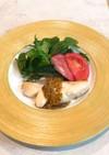 白身魚とチーズのハニーマスタードソース