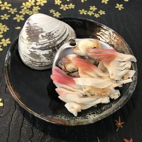 甘くて美味しい!ボイルほっき貝のお造り♪