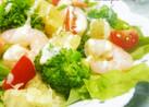 春レタスと海老のクリチソースサラダ