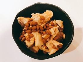 納豆ささみラー油☆ダイエット用