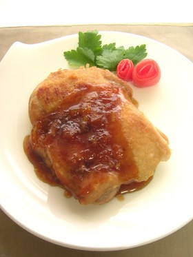 鶏肉の柔らかステーキ☆マーマレードソース