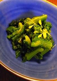菜の花の昆布茶和え