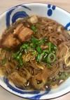 豚の角煮の煮汁のリメイク麺料理