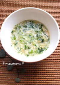 m中期離乳食☆大豆とえのきと小松菜煮