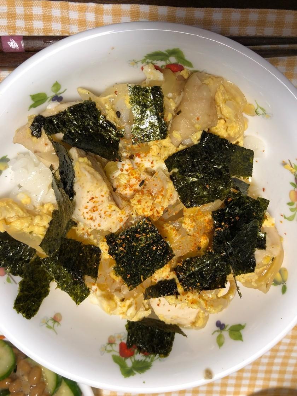 ☆簡単&時短☆胸肉と麺つゆで親子丼