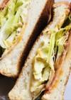 ハムチーズ&レタスのトーストサンドイッチ
