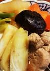 簡単♪ヒレ肉とネギ、大根、にんじんの煮物