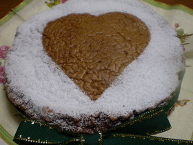 アーモンド粉たっぷりのチョコレートケーキ