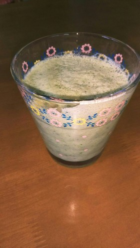 豆乳小松菜のグリーンスムージー