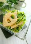 簡単!れんこんと豆苗のマヨポンサラダ