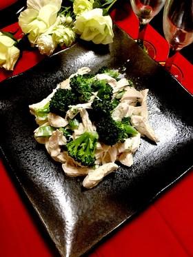 簡単ブロッコリーと鶏胸肉サラダ