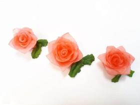 酢大根で薔薇作り♪