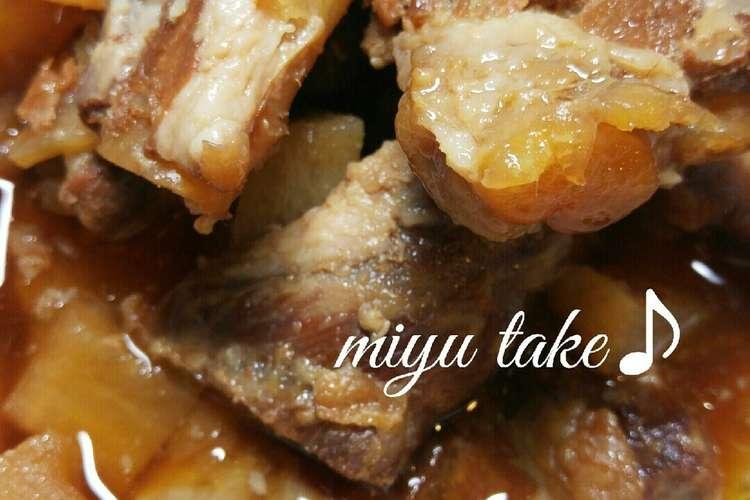 バラ 鍋 圧力 豚 軟骨 95円の豚パイカ(バラ軟骨)をメイン食材に圧力鍋を使った中華風煮込みの味は?