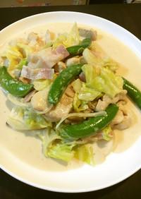 春野菜と鶏むね肉の味噌クリーム煮