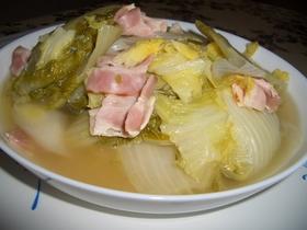 白菜とベーコンのスープ煮