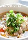 ひき肉とキャベツのピリ辛味噌スープ