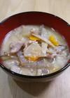 冷凍根菜で簡単10分酒粕入り豚汁