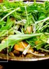 水菜とチキンのパエリア