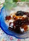 かき氷に「コーヒーゼリー」