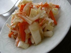 残り野菜と桜海老のキムチ風漬物☆