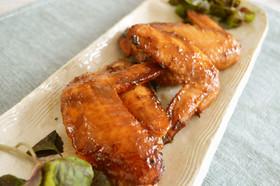 鶏手羽先のピリ辛江戸甘味噌焼き
