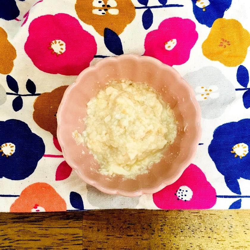 簡単離乳食!ひき肉ふわふわ豆腐(9ヶ月)