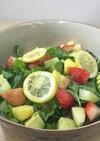 ハーブたくさん・可愛いフルーツサラダ