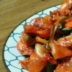 アジの干物とキムチで簡単ご飯のおとも♪