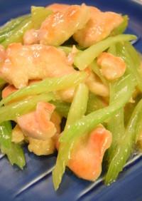 モリモリ食べれる*セロリと鶏胸肉の炒め物