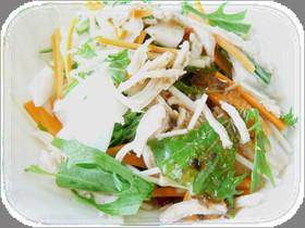 京みず菜とかぶらとささみのポン酢サラダ