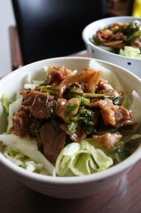 節約レシピ☆エコ葱タレdeスピード豚丼
