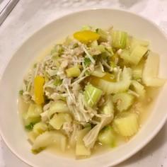 鮭缶蒸し野菜