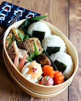 お弁当に☺️鶏味噌漬け胡麻胡麻焼き