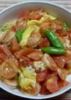 海老とトマトのふんわり玉子炒め