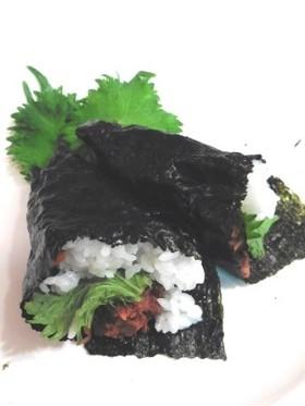 魚缶味噌そぼろDE手巻きご飯!