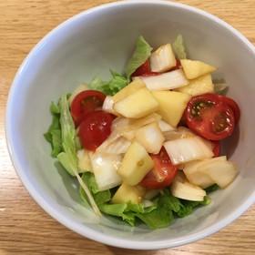 新玉ねぎとリンゴのサラダ