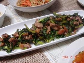 *青菜と鶏肉のスパイシー炒め*