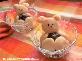 豆腐で簡単★クマのきなこ白玉